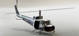 مدل سه بعدی هلیکوپتر bell-204 امداد solidworks