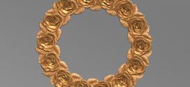 فایل اسکن سه بعدی قاب آینه طرح رز جهت ماشینکاری