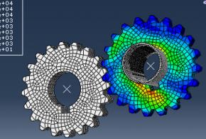 پروژه اماده شبیه سازی و تحلیل چرخ دنده در اباکوس