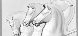 فایل سه بعدی طرح چهار اسب/رایگان