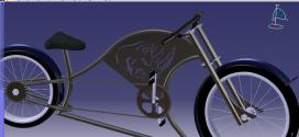 مدل آماده دوچرخه کار شده در نرم افزار کتیا
