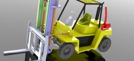 مدل سه بعدی آماده لیفتراک کار شده در solidworks
