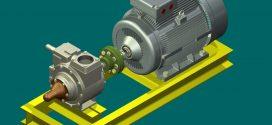 دانلود رایگان مدل سه بعدی مجموعه موتور پمپ