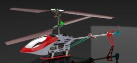 مدل سه بعدی هلیکوپتر solidworks