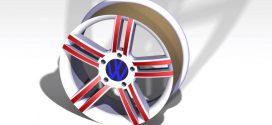 مدل سه بعدی رینک تایر خودرو catia