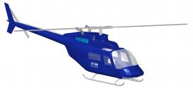 مدل سه بعدی هلیکوپتر bell کار شده در نرم افزار اتوکد