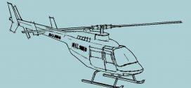 دانلود رایگان مدل بالگرد بل 206 autocad