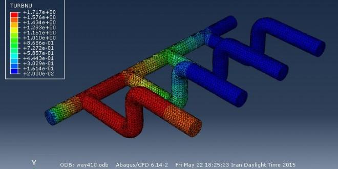 شبیه سازی به روش CFD جریان سیال در داخل لوله