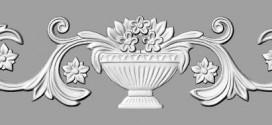 فایل اسکن سه بعدی دکور چوبی طرح گل و گلدان